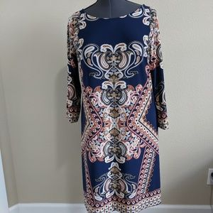 Haani gently used blue print dress.  Size XL